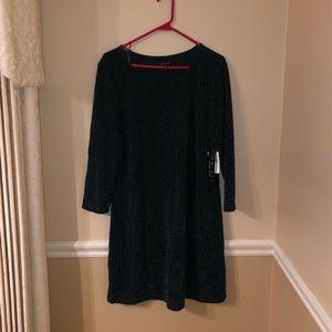 Green sparkle dress, NWT, Juniors XXL
